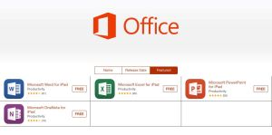 offcie for ipad apps