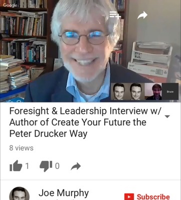 Joe Murphy Librarian interviews Bruce Rosenstein author of Create Your Future the Peter Drucker way