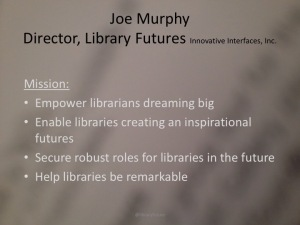 Joe Murphy library futures
